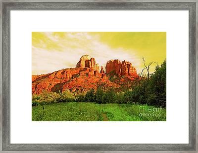 Cathedral Rock Az Framed Print
