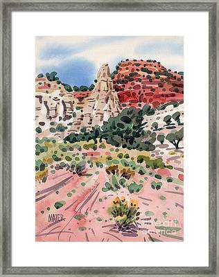 Cathedral Rock Framed Print by Donald Maier
