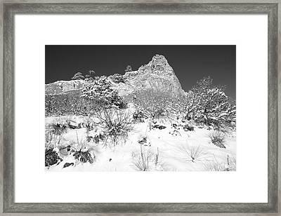 Cathedral Rock Framed Print by Eric Glaser