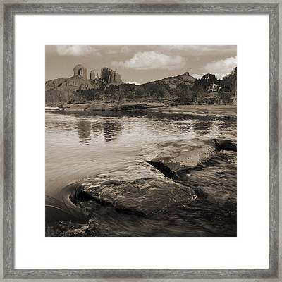 Cathedral Rock Flow Framed Print by Bob Coates