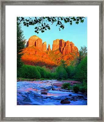 Cathedral Rock Framed Print by Frank Houck