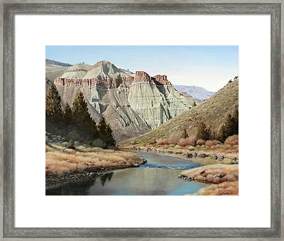 Cathedral Rock John Day River Framed Print
