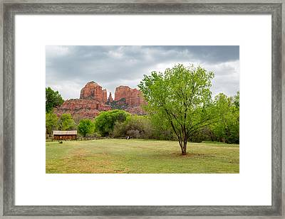 Cathedral Rock Framed Print by Jon Manjeot