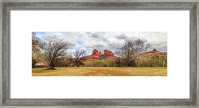 Framed Print featuring the photograph Cathedral Rock Panorama by James Eddy