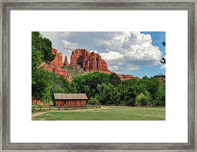 Cathedral Rock - Red Rock Crossing - Sedona Arizona Framed Print by Gregory Ballos