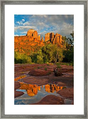 Cathedral Rock Reflection Framed Print by Guy Schmickle
