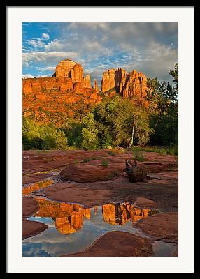 Red Rock Crossing Photographs Framed Prints