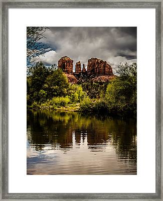 Cathedral Rock Reflections Framed Print