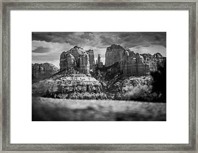 Cathedral Rock Framed Print by Robert Davis