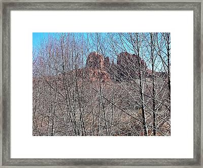 Cathedral Rock Screen Framed Print by Gene Garrison