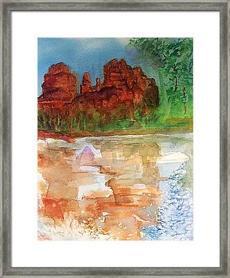 Cathedral Rock Sedona Az Framed Print by Ellen Levinson