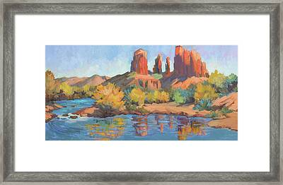 Moonrise Cathedral Rock Sedona Framed Print by Diane McClary