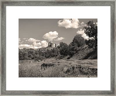 Cathedral Rock Sedona Framed Print by Gordon Beck
