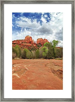 Framed Print featuring the photograph Cathedral Rock Sedona by James Eddy