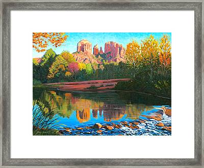 Cathedral Rock - Sedona Framed Print by Steve Simon