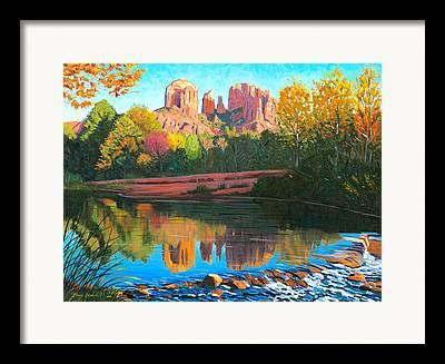 Oak Creek Paintings Framed Prints