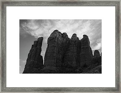 Cathedral Rock Viii Bw Framed Print by David Gordon