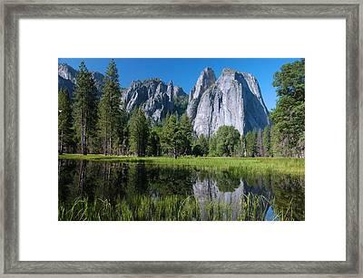 Cathedral Rocks - Yosemite Framed Print by Stephen  Vecchiotti
