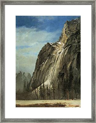 Cathedral Rocks A Yosemite View Framed Print