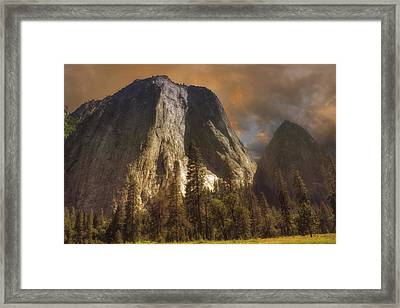 Cathedral Rocks Framed Print by Michael Cleere
