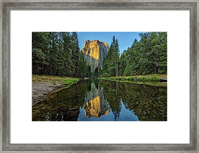 Cathedral Rocks Morning Framed Print by Peter Tellone