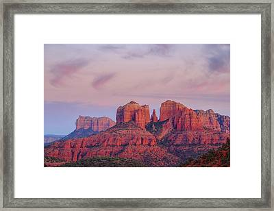 Framed Print featuring the photograph Cathedral Rock by Patricia Davidson