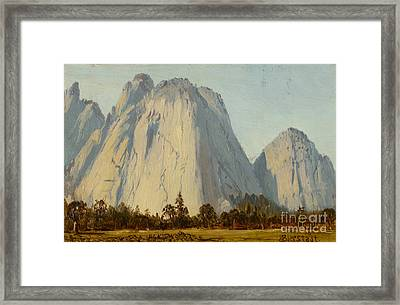 Cathedral Rocks  - Yosemite Valley Framed Print