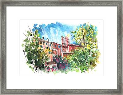 Cathedral Sainte Cecile In Albi 01 Framed Print by Miki De Goodaboom