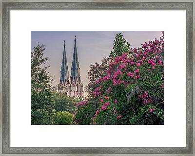 Cathedral Spires At Sunset Framed Print by Rob Sellers