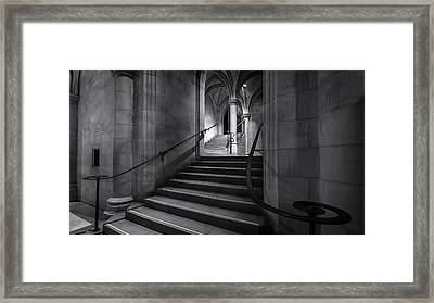 Cathedral Stairwell Framed Print