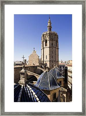 Cathedral Valencia Micalet Tower Framed Print