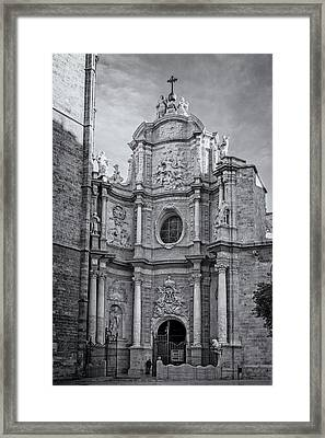 Framed Print featuring the photograph Cathedral Valencia Spain by Joan Carroll