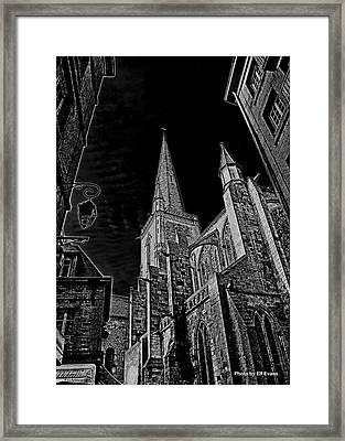 Framed Print featuring the photograph Cathedrale St/. Vincent by Elf Evans