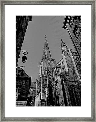 Framed Print featuring the photograph Cathedrale St. Vincent  by Elf Evans