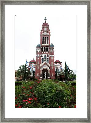 Framed Print featuring the photograph Cathedralflowers by Cecil Fuselier