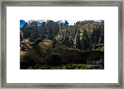 Cathedrals Na Pali Coast #2 Framed Print