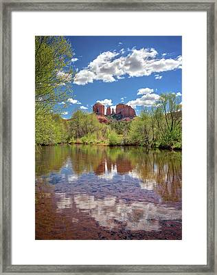 Catherdral Rock And Reflection - Sedona #2 Framed Print by Jennifer Rondinelli Reilly - Fine Art Photography