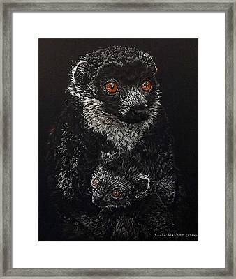 Catherina And Baby Abby Framed Print