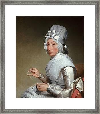 Catherine Brass Yates  Framed Print by Gilbert Stuart