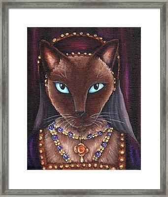 Catherine Howard Cat Framed Print by Tara Fly