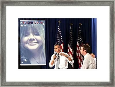 Catherine Lott President 2020 Framed Print by Catherine Lott