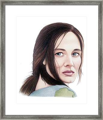 Catherine Mccormack  Framed Print by Danielle R T Haney