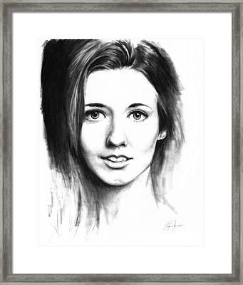Catherine Mccormack Framed Print by Ryan Jones