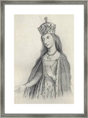 Catherine Of Valois 1401 To 1437. Queen Framed Print