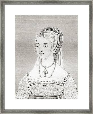 Catherine Parr, 1512 - 1548. Sixth Wife Framed Print