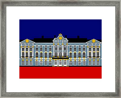 Catherines Palace Inspiration - Katharinenhof Inspiration St Petersburg Russia Framed Print by Asbjorn Lonvig