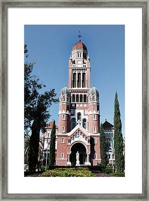 Cathfront20x30desat3 Framed Print by Cecil Fuselier