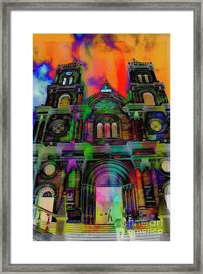 Framed Print featuring the photograph Catholic Church At Chordeleg, Ecuador by Al Bourassa
