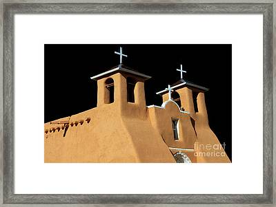Framed Print featuring the photograph St Francis De Assi Church  New Mexico by Bob Christopher