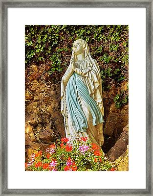 Framed Print featuring the photograph Catholic Nun by Elf Evans